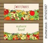 set of colored hand drawn fruit ... | Shutterstock .eps vector #347652587