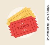 ticket icon vector illustration ... | Shutterstock .eps vector #347673803