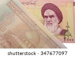 set of iranian rials banknotes. ... | Shutterstock . vector #347677097