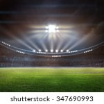 green soccer field  bright... | Shutterstock . vector #347690993
