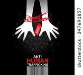 stop human trafficking vector... | Shutterstock .eps vector #347691857