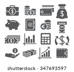 money icons | Shutterstock .eps vector #347693597