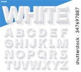 vector 3d white simple bold... | Shutterstock .eps vector #347697887