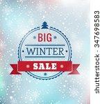 special winter sale typography... | Shutterstock . vector #347698583