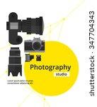 photography studio flyer poster ... | Shutterstock .eps vector #347704343