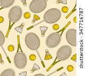 seamless pattern with sport... | Shutterstock .eps vector #347716787