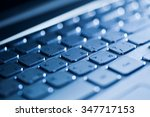 close up of keyboard of a... | Shutterstock . vector #347717153