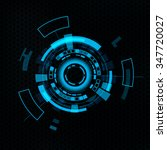 futuristic user interface hud....