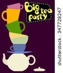 set of colorful different tea... | Shutterstock .eps vector #347728247