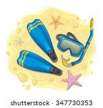 snorkeling set | Shutterstock .eps vector #347730353