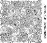 ethnic floral zentangle  doodle ...   Shutterstock .eps vector #347730887