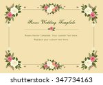 vintage roses wedding vector... | Shutterstock .eps vector #347734163