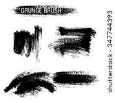 vector set of grunge brush... | Shutterstock .eps vector #347744393