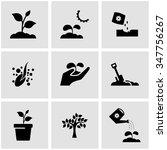 vector black growing icon set.   Shutterstock .eps vector #347756267