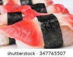 hokkigai  hokkigai sushi  macro ... | Shutterstock . vector #347765507