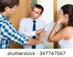 portrait of debt collector and...   Shutterstock . vector #347767067