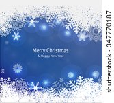 christmas background with... | Shutterstock .eps vector #347770187