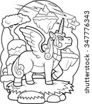 winged unicorn | Shutterstock .eps vector #347776343