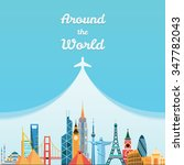 World Landmarks. Travel And...