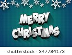 merry christmas celebration... | Shutterstock .eps vector #347784173