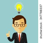 big idea concept with man and... | Shutterstock .eps vector #347788337