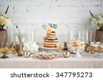 Wedding Candy Buffet With Cake...