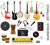 set of musical instruments in... | Shutterstock .eps vector #347796413