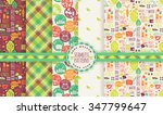 healthy lifestyle backgrounds.... | Shutterstock .eps vector #347799647