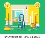 renovation apartment flat... | Shutterstock .eps vector #347811533