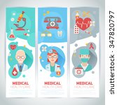 medical doctors portraits on... | Shutterstock .eps vector #347820797