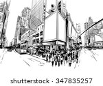 city hand drawn unique... | Shutterstock .eps vector #347835257