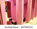 Fitting Room In A Modern...