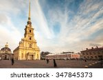 peter and paul fortress.... | Shutterstock . vector #347845373