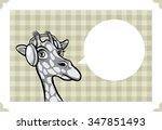 greeting card with giraffe in...