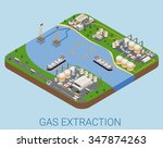 gas extraction nautical process ... | Shutterstock .eps vector #347874263