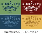 vector set of wilderness and... | Shutterstock .eps vector #347874557