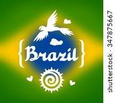 brazil background with stylized ... | Shutterstock .eps vector #347875667