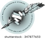 vector emblem badges arrow... | Shutterstock .eps vector #347877653
