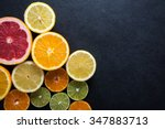 Fresh Citrus Fruits Half Cut ...