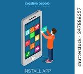 install download get mobile app ... | Shutterstock .eps vector #347886257