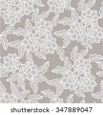 seamless  abstract lace  floral ... | Shutterstock .eps vector #347889047