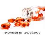 medicine pills or capsules in...   Shutterstock . vector #347892977