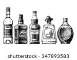 Vector Set Of Bottles Of...