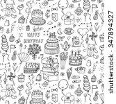 happy birthday pattern | Shutterstock .eps vector #347894327