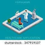 mobile remote healthcare... | Shutterstock .eps vector #347919107