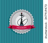hookah menu art  nargila... | Shutterstock .eps vector #347919473