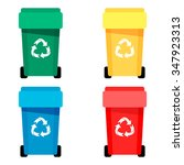 Waste Bin Set Vector...