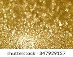 gold glittering christmas... | Shutterstock . vector #347929127