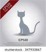 cat vector symbol | Shutterstock .eps vector #347933867