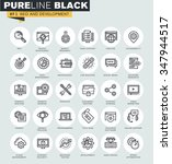 set of thin line web icons of... | Shutterstock .eps vector #347944517